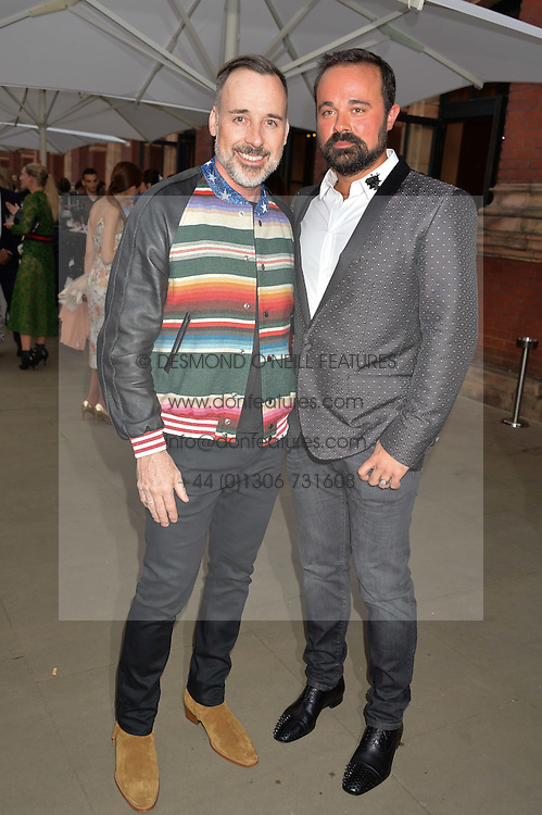Left to right, DAVID FURNISH and EVGENY LEBEDEV at the V&A Summer Party in association with Harrod's held at The V&A Museum, London on 22nd June 2016.