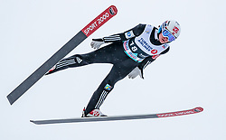 11.03.2018, Holmenkollen, Oslo, NOR, FIS Weltcup Ski Sprung, Raw Air, Oslo, im Bild Marius Lindvik (NOR) // Marius Lindvik of Norway during the 1st Stage of the Raw Air Series of FIS Ski Jumping World Cup at the Holmenkollen in Oslo, Norway on 2018/03/11. EXPA Pictures © 2018, PhotoCredit: EXPA/ JFK