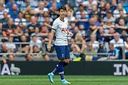 Tottenham Hotspur forward Son Heung-Min (7) on as a substitute during the Pre-Season Friendly match between Tottenham Hotspur and Inter Milan at Tottenham Hotspur Stadium, London, United Kingdom on 4 August 2019.
