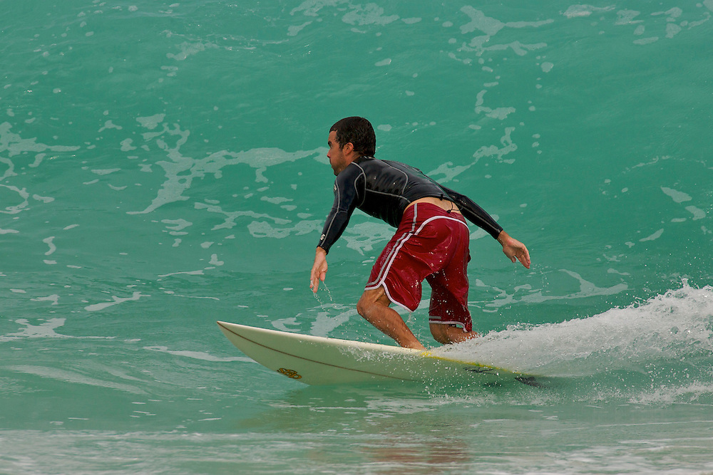 Scott Clephane surfing