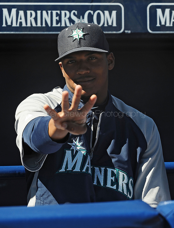 PEORIA, AZ - FEBRUARY 24:  Fancisco Martinez #66 of the Seattle Mariners poses for a photo in the spring training game against the San Diego Padres at Peoria Sports Complex on February 24, 2013 in Peoria, Arizona.  (Photo by Jennifer Stewart/Getty Images) *** Local Caption *** Fancisco Martinez