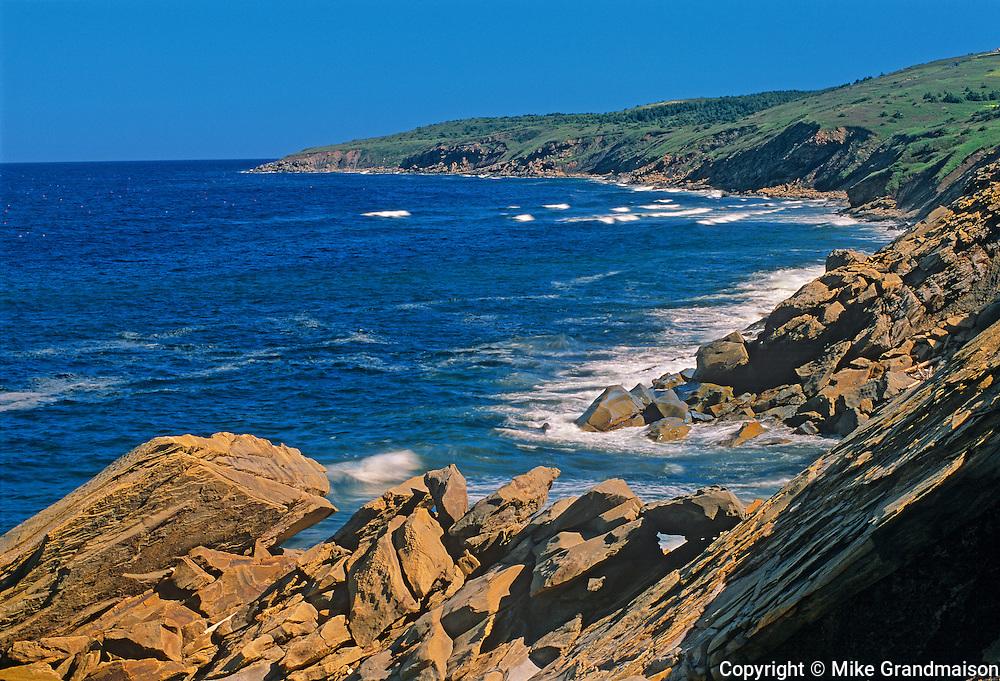 Shoreline along the Gulf of St. Lawrence<br /> Cape Breton<br /> Nova Scotia<br /> Canada