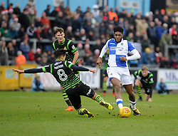 Ellis Harrison of Bristol Rovers is challenged by Niall Mason of Doncaster Rovers - Mandatory by-line: Neil Brookman/JMP - 23/12/2017 - FOOTBALL - Memorial Stadium - Bristol, England - Bristol Rovers v Doncaster Rovers - Sky Bet League One