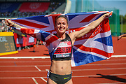 Meghan BEESLEY, winner of the Women's 400 Hurdles Final during the Muller British Athletics Championships at Alexander Stadium, Birmingham, United Kingdom on 25 August 2019.