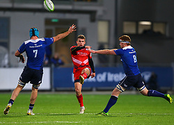 Billy Searle of Bristol United clears under pressure from Will Connors and Peadar Timmins of Leinster - Mandatory by-line: Ken Sutton/JMP - 15/12/2017 - RUGBY - Donnybrook Stadium - Dublin,  - Leinster 'A' v Bristol United -