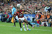 21.04.2013 Sydney, Australia. Wanderers forward Kwabena Appiah-Kubi in action during the Hyundai A League grand final game between Western Sydney Wanderers FC and Central Coast Mariners FC from the Allianz Stadium.Central Coast Mariners won 2-0.