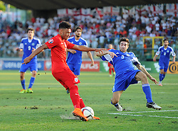 Alex Oxlade-Chamberlain of England (Arsenal) Shoots  - Mandatory byline: Joe Meredith/JMP - 07966386802 - 05/09/2015 - FOOTBALL- INTERNATIONAL - San Marino Stadium - Serravalle - San Marino v England - UEFA EURO Qualifers Group Stage