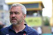 Caretaker manager Russell Milton during the EFL Sky Bet League 2 match between Cambridge United and Cheltenham Town at the Cambs Glass Stadium, Cambridge, England on 25 August 2018.