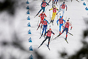 South Korea, PyeongChang - 2018 February 23: Lars Helge Birkeland from Norway competes while Biathlon Men's 4x7.5km Relay Final during The 2018 PyeongChang Olympic Winter Games at Alpensia Biathlon Centre on February 23, 2018 in PyeongChang, South Korea.<br /> <br /> Mandatory credit:<br /> Photo by &copy; Adam Nurkiewicz<br /> <br /> Adam Nurkiewicz declares that he has no rights to the image of people at the photographs of his authorship.<br /> <br /> Picture also available in RAW (NEF) or TIFF format on special request.<br /> <br /> Any editorial, commercial or promotional use requires written permission from the author of image.