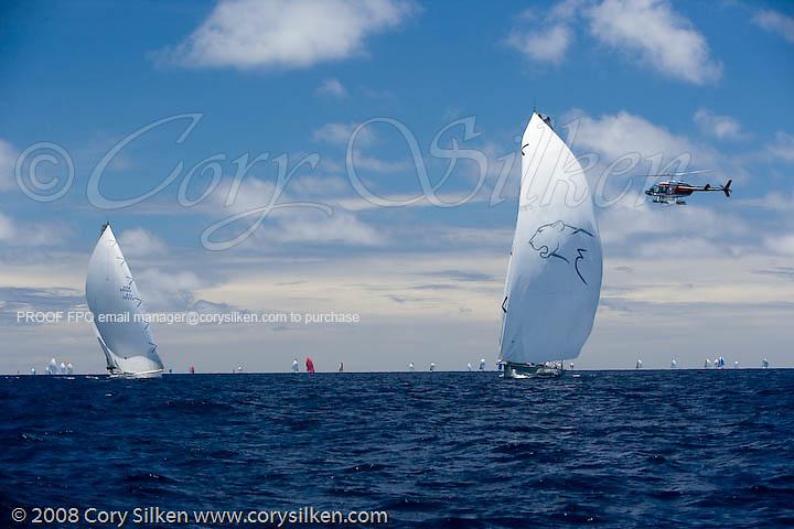 Leopard sailing Race 4 at Antigua Sailing Week.