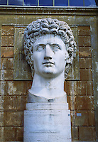 Statue of head of David in courtyard of Vatican Museum Rome Italy