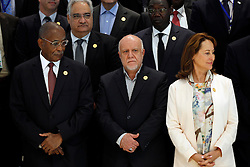 September 27, 2016 - Algiers, Algeria - France's Environment Minister Segolene Royal (R) attends the opening session of the 15th International Energy Forum in Algiers on September 27, 2016. Oil prices rose modestly ahead of a meeting of producers from the Organization of the Petroleum Exporting Countries (OPEC) cartel and Russia in Algeria on September 28 that could agree to cap supplies. (Credit Image: © Billal Bensalem/NurPhoto via ZUMA Press)