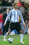 Argentina's Fabricio Coloccini in action during the international friendly match between Spain and Argentina in Madrid, Spain on November 14 2009.