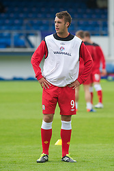 HAVERFORDWEST, WALES - Wednesday, August 10, 2011: Wales' Richard Peniket before Hungary in the Under-21 International Friendly at the Conygar Bridge Meadow Stadium. (Photo by Gareth Davies/Propaganda)