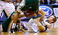 INDIANAPOLIS, IN - FEBRUARY 13: Pierria Henry #15 of the Charlotte 49ers and Jackson Aldridge #11 of the Butler Bulldogs battle for a loose ball at Hinkle Fieldhouse on February 13, 2013 in Indianapolis, Indiana. Charlotte defeated Butler 71-67. (Photo by Michael Hickey/Getty Images) *** Local Caption *** Pierria Henry; Jackson Aldridge