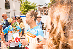 25-06-2017 NED: Finish Homeride & Homerun, Utrecht<br /> Vanaf de Domplein startte de HomeRide en Homerun en na 24 uur kwamen de renners en fietsers. Een 500km en 200 km event in 24 uur.