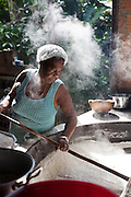 Luciana B. Vasconcelos, 58, works with the family in one of the last houses of flour in Sapê From The North, as this Afro-Descendant place is called.<br />