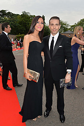 LINZI STOPPARD and WILL STOPPARD at the Grand Prix Ball in aid of The Prince's Trust held at The Hurlingham Club, Ranelagh Gardens, London on 6th July 2016.