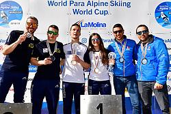 Podium, Slalom at the WPAS_2019 Alpine Skiing World Cup, La Molina, Spain