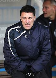 Crawley Town Manager Dean Saunders  - Photo mandatory by-line: Matt McNulty/JMP - Mobile: 07966 386802 - 17.01.2015 - SPORT - Football - Rochdale - Spotland Stadium - Rochdale v Crawley Town - Sky Bet League One