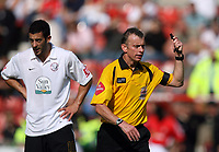 Photo: Rich Eaton.<br /> <br /> Wrexham v Hereford United. Coca Cola League 2. 24/09/2006. Referee Mr Joslin