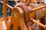 "Ships wheel, USS Constitution (""Old Ironsides""), Charlestown Navy Yard, Boston, Massachusetts USA"