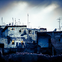 Where: Morocco, Rabat. Interesting how this old city has tv and satellite dishes everywhere. <br /> Old with the new.