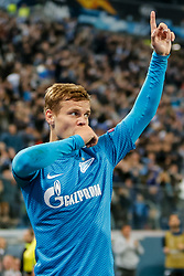 October 4, 2018 - Saint Petersburg, Russia - Aleksandr Kokorin of FC Zenit Saint Petersburg celebrates his goal during the Group C match of the UEFA Europa League between FC Zenit Saint Petersburg and SK Sparta Prague at Saint Petersburg Stadium on October 4, 2018 in Saint Petersburg, Russia. (Credit Image: © Mike Kireev/NurPhoto/ZUMA Press)