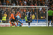 30th August 2019; Dens Park, Dundee, Scotland; Scottish Championship, Dundee Football Club versus Dundee United; Calum Butcher of Dundee United scores for 4-1