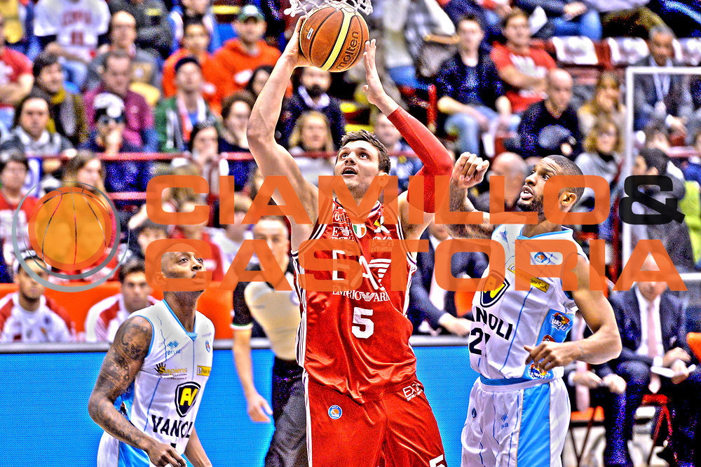 DESCRIZIONE : Milano Lega A 2014-15  EA7 Emporio Armani Milano vs Vagoli Basket Cremona<br /> GIOCATORE : Alessandro Gentile<br /> CATEGORIA : Tiro<br /> SQUADRA : EA7 Emporio Armani Milano<br /> EVENTO : Campionato Lega A 2014-2015<br /> GARA : EA7 Emporio Armani Milano vs Vagoli Basket Cremona<br /> DATA : 25/01/2015<br /> SPORT : Pallacanestro <br /> AUTORE : Agenzia Ciamillo-Castoria/I.Mancini<br /> Galleria : Lega Basket A 2014-2015  <br /> Fotonotizia : Cant&ugrave; Lega A 2014-2015 Pallacanestro : EA7 Emporio Armani Milano vs Vagoli Basket Cremona<br /> Predefinita :
