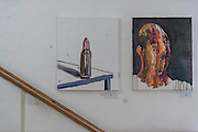 Here his paintings made after his final appeal failed. Myuran Sukumaran - launch of a new exhibition of work created during his 10 years on death row. The Australian artist is set to be executed in Indonesia next month. Organised by his cousin Niranjela Karunatilake, the showcase has been put on to draw attention to his case, and to mark Sukumaran's 34th birthday on Friday April 17. Human Rights Action Centre, London.