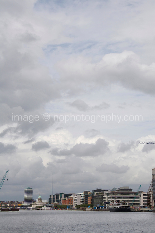 View of the River Liffey from Dublin's docklands