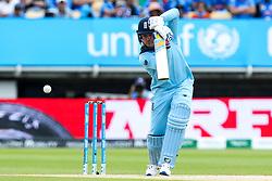 Jason Roy of England plays a drive shot - Mandatory by-line: Robbie Stephenson/JMP - 30/06/2019 - CRICKET - Edgbaston - Birmingham, England - England v India - ICC Cricket World Cup 2019 - Group Stage