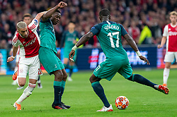 08-05-2019 NED: Semi Final Champions League AFC Ajax - Tottenham Hotspur, Amsterdam<br /> After a dramatic ending, Ajax has not been able to reach the final of the Champions League. In the final second Tottenham Hotspur scored 3-2 / Hakim Ziyech #22 of Ajax, Moussa Sissoko #17 of Tottenham Hotspur, Victor Wanyama #12 of Tottenham Hotspur