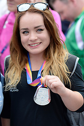 15/07/2017 : Niamh McCarthy, F41, Silver Medal, Discus (Women's), at the 2017 World Para Athletics Championships, Olympic Stadium, London, United Kingdom