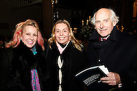 Angie Robertson, Sarah Robertson and Mark Woodnutt, Nordoff Robbins Carol Service  2011 sponsored by Coutts. London..Wednesday, 14. Dec 2011