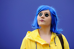 © Licensed to London News Pictures. 25/05/2018. LONDON, UK.  A cosplayer attends MCM Comic Con at Excel in East London.   Thousands of fans of video games, comic books and other popular character take the opportunity to dress up as their favourite characters.  Photo credit: Stephen Chung/LNP