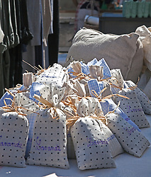 Lavender sachets are big sellers at the public markets. Thursdays are market day in this interesting small town across the Rhone River from Avignon.  Easily accessed by city bus, the market offers the freshest of locally grown foods, along with a wide variety of crafts and clothing, a good stop for regional souvenirs.