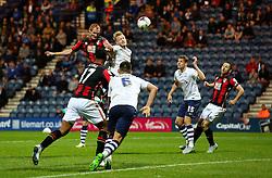 Shaun MacDonald of Bournemouth fires a header at goal  - Mandatory byline: Matt McNulty/JMP - 07966386802 - 22/09/2015 - FOOTBALL - Deepdale Stadium -Preston,England - Preston North End v Bournemouth - Capital One Cup - Third Round