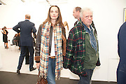 CATHARINE BAILEY; DAVID BAILEY, opening of the 2010 Frieze art fair. Regent's Park. London. 13 October 2010. -DO NOT ARCHIVE-© Copyright Photograph by Dafydd Jones. 248 Clapham Rd. London SW9 0PZ. Tel 0207 820 0771. www.dafjones.com.