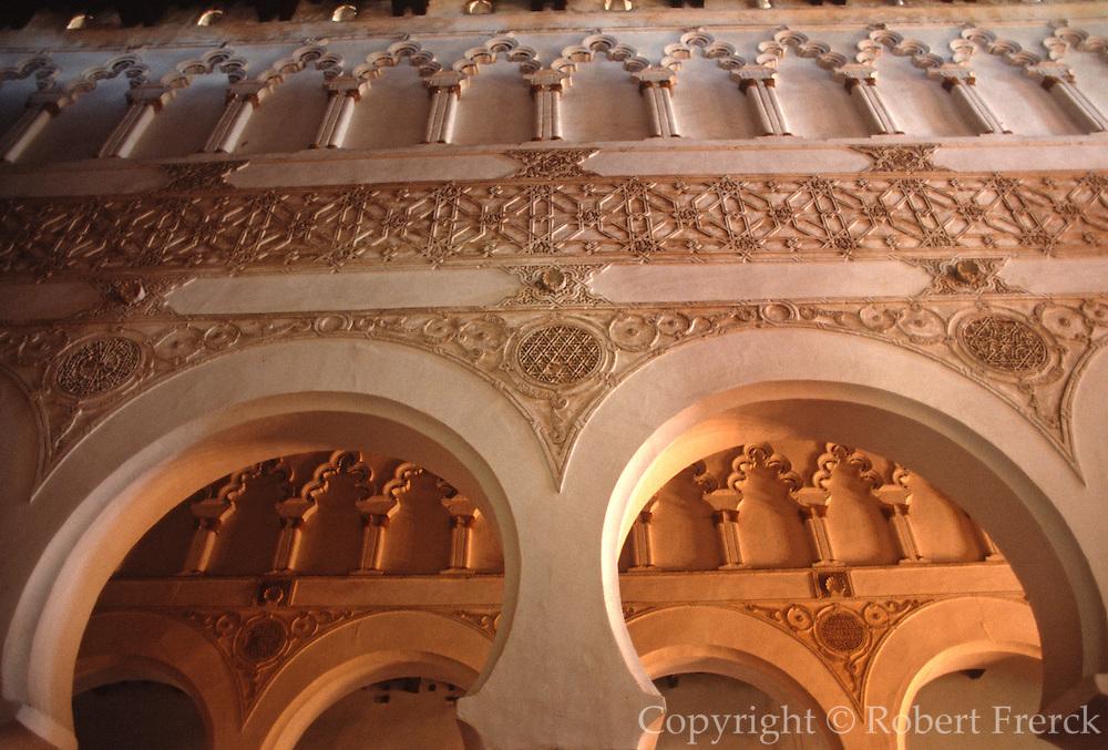 SPAIN, LA MANCHA, TOLEDO Santa Maria la Blanca; synagogue