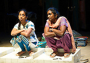 BEHIND THE BEAUTIFUL FOREVERS<br /> by David Hare<br /> Based on the book by Katherine Boo<br /> at the Olivier Theatre, NT, Southbank, London, Great Britain <br /> Press photocall <br /> 17th November 2014 <br /> Directed by  Rufus Norris<br /> <br /> <br /> Anjana Vasan<br /> <br /> Anneika Rose<br /> <br /> <br /> <br /> <br /> <br /> <br /> Photograph by Elliott Franks <br /> Image licensed to Elliott Franks Photography Services