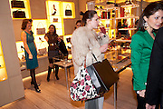CHLOE KERMAN; , Cocktail party to launch the Miss Viv bag. ( <br /> Smash-and-grab raiders seized more than a dozen  of the handbags but they were recovered after the raiders crashed their motorbike and the bags spilled out onto the street. )<br /> Roger Vivier, 188 Sloane Street, London SW1,