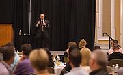 Patrick Donadio speaks during the Leadership Development Program event in Baker Ballroom on August 26, 2016. Photo by Emily Matthews