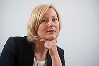 15 MAY 2013, BERLIN/GERMANY:<br /> Prof. Dr. Gesche Joost, Professorin an der Universitaet der Kuenste Berlin, Fachgebiet Designforschung, und Mitglied im Kompetenzteam von SPD Kanzlerkandidat P eer S teinbrueck,<br /> waehrend einem Interview, Willy-Brandt-Haus<br /> IMAGE: 20130515-01-018<br /> KEYWORDS: Wahlkampfteam