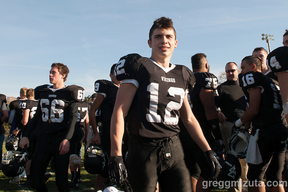 Vale sophomore Zac Jacobs after the round 1 playoff victory over Clatskanie, November 9, 2013 at Frank Hawley Stadium Vale High School, Vale, Oregon. Vale won 46-0.