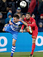 (L-R) *Bram van Polen* of PEC Zwolle, *Alireza Jahanbakhsh* of AZ Alkmaar