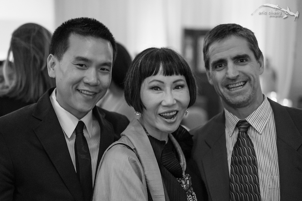 Eric Cheng, Amy Tan, Shawn Heinrichs; WildAid Gala, November 15, 2014