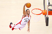 TORONTO, ON - APRIL 26: Toronto Raptors guard Norman Powell (24) dunks to tie the game at 92. Toronto Raptors vs Indiana Pacers in 2nd half action of NBA Game 5 of First Round playoff action at Air Canada Centre. The series is split 2-2. Toronto Star/Rick Madonik        (Rick Madonik/Toronto Star via Getty Images)