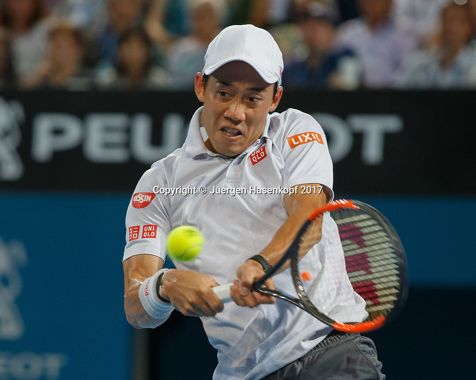 KEI NISHIKORI (JPN)<br /> <br /> Tennis - Brisbane International  2017 - ATP -  Pat Rafter Arena - Brisbane - QLD - Australia  - 8 January 2017. <br /> &copy; Juergen Hasenkopf